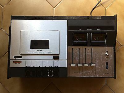 TEAC A-280 VINTAGE 1970's STEREO AMPLIFIER 40 WATTS + STEREO CASSETTE DECK