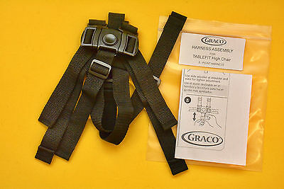New GRACO TABLEFIT High Chair Seat Belt Strap 5pt Harness Replacement Graco Made