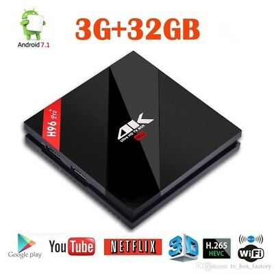 H96 Pro+ Plus Octa Core Android 7.1 3GB/32GB tv box 4K Amlogic 2.4G/5GHz UK/EU P