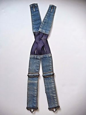 Vtg Lee Denim Childrens Suspenders