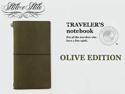 Traveler's Notebook Olive Green | Limited Edition Regular Size | Agenda Midori