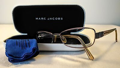 Marc Jacobs Womens Eyeglasses Rectangle Metal Rosy Copper MJ087 w Case Italy