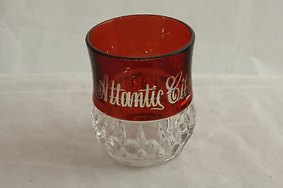 Greensburg Glass Crystal Ruby Stain Sunk Honeycomb Pattern Toothpick Holder Eapg