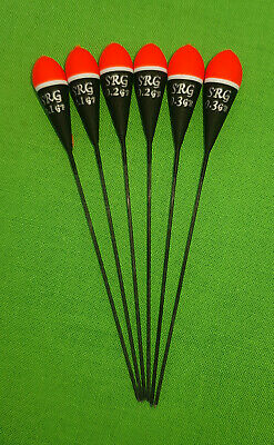 6 x Assorted High Quality Pole Fishing Floats (Pack 324R6)
