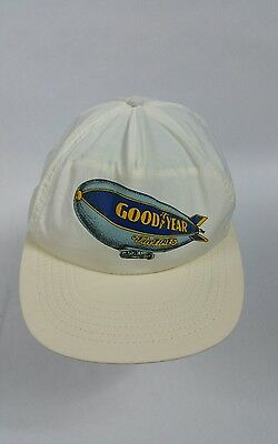 Vintage GoodYear Snapback Hat #1 in Racing White