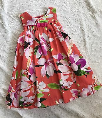 Ted Baker Baby Girl Stunning Dress Party Special Occasion Age 12-18 Months
