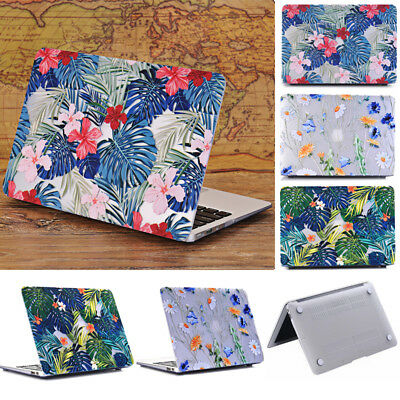 """Clear Floral Pattern Print Matte Hard Shell Case for MacBook Air 11.6 13.3 15.4"""""""