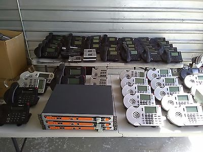 Huge Shoretel Lot 3 Systems w/56 Phones, 4 Sidecars, Great Deal, Working Condito