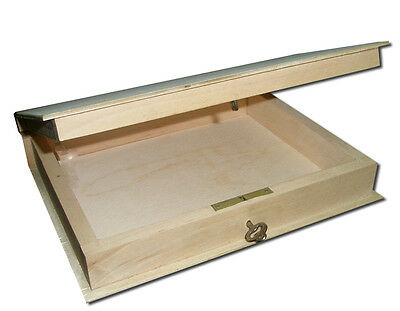 Plain New Wooden Lockable Box/ Bookcase/ Container with a key -18x21x4.5cm-
