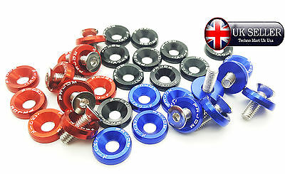 M6 Color Anodized aluminum counter shank washer Dia 19mm & Screw Bolt Fastener