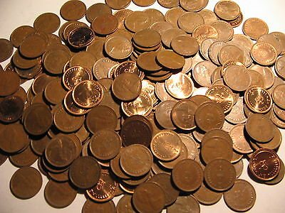 100x CLEAN HALF NEW PENNIES 1/2p's 1971-1982 DECIMAL ONES JEWELLERY CRAFT LOOK