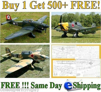 Ju-87 Stuka Giant Scale RC Airplane Full Size Plans & Templates in PDF Format