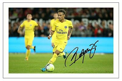 Neymar Jr Paris St Germain Psg Autograph Signed Photo Print Soccer