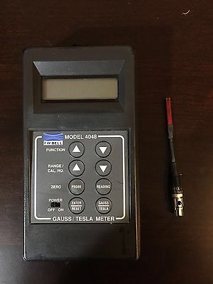 FW Bell 4048 Gauss/Tesla Meter with T-4048-001 Probe Magnaflux