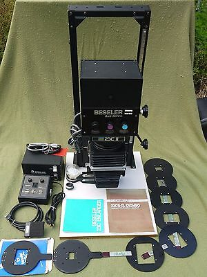 Beseler 23C II-XL Darkroom Enlarger w Dual Dichro Colorhead & Accessories WORKS
