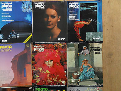 PHOTOGRAPHY MAGAZINES PHOTO TECHNIQUE INTERNATIONAL 1958 - 1989 16 Vintage mags