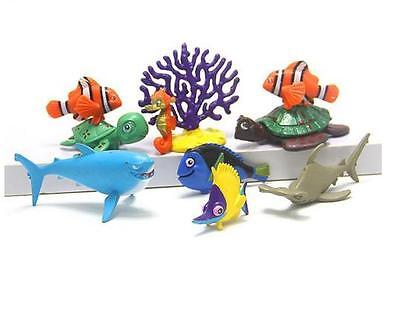 10x Mini Dory Nemo Clownfish Action Figures Kid Toy Birthday Gift