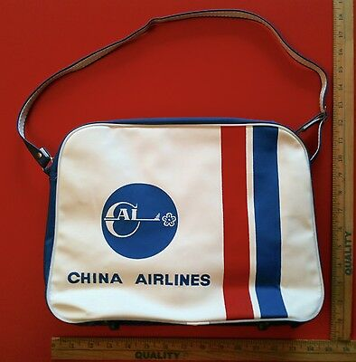 Vintage 1960's China Airlines Carry On Travel Flight Bag Very Rare
