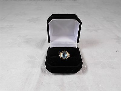 "edler Damenring / Ring  in 585 Gold "" Blautopas "" Art deco  um 1930"