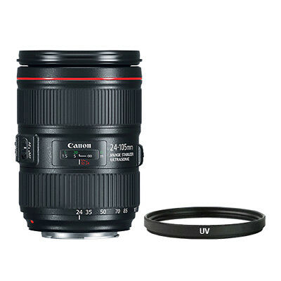 Canon EF 24-105mm f/4L IS II USM Lens + Multi-Coated UV Filter