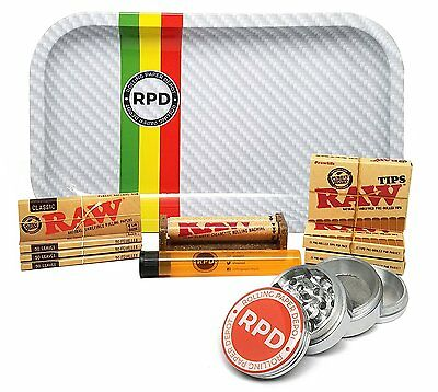 Raw Natural 1 1/4 Cigarette Rolling Papers (4 Packs), RAW Pre-Rolled Tips & MORE