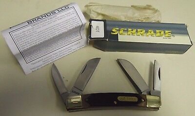 Schrade U.s.a 40T Old Timer 4 Blade Folding Pocket Knife New In Original Box