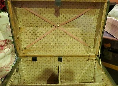 """Antique French Doll Trunk wTray, 13"""" Wide x 8"""" Tall and 9"""" Deep"""