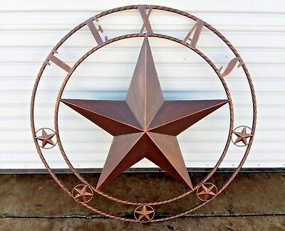 40 Texas Lone Star Barn Metal Wall Art Western Home Decor Rustic Bronze Copper