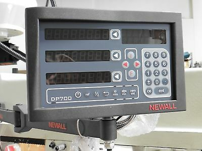 "Newall DP 700 2-Axis DRO for milling machine 12""x36"" travel for 9""x49"" table"