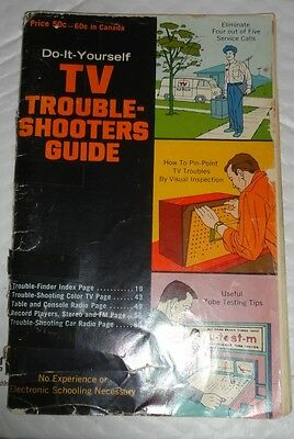 Vintage 1963 Guide to trouble Shoot TVS - Phonographs and Radios Manual Booklet