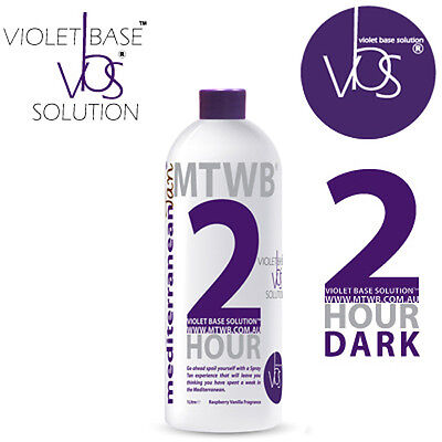SPRAY TAN SOLUTION - MediterraneanTan® 2 HOUR Dark - Violet Base Solution™