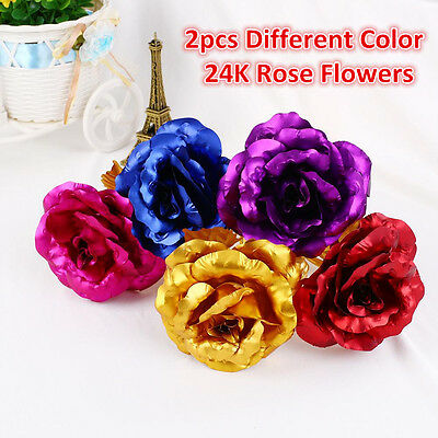 24K Gold Plated Golden Rose Flower Valentine's Day Gift Birthday Romantic Gift