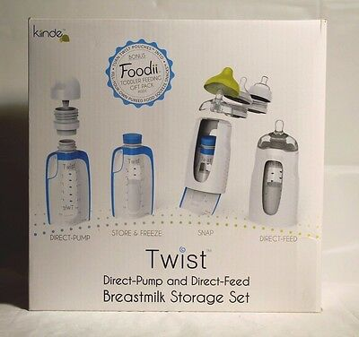Kiinde Twist Direct-Pump And Direct-Feed Breastmilk Storage Set-Brand New In Box