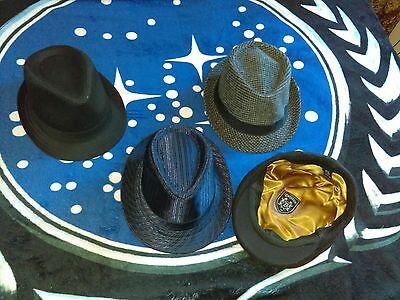 Set Of 3 Fidora Hats Plus Golf Hat