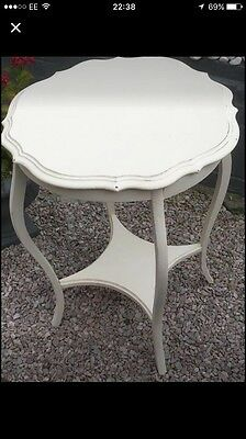 Antique/Edwardian 2 Tier table Antique Cream Shabby Chic - Plymouth area