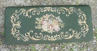 Estate ~ Needlepoint Piano Bench ~ LID ONLY, Repurpose or Hang on the wall Decor