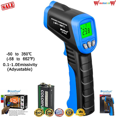 NonContact Temperature Gun Digital Temp Meter Infrared IR Laser Thermometer 550℃