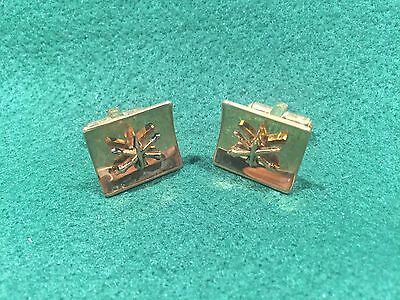 Pair of 1970's Vintage US Army Air Defense Artillery Cuff Links
