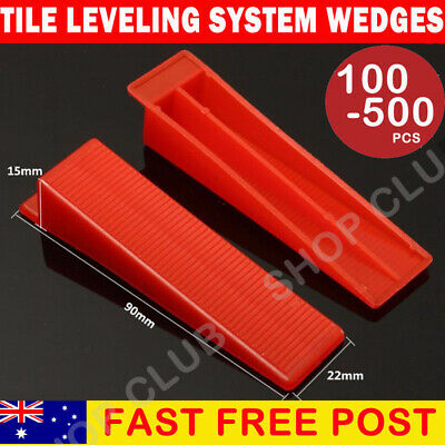 100/200/500x Tile Leveling System Wedges Levelling Spacer Tool Wall Floor Tiling