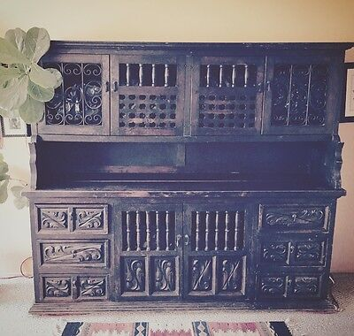 """Antique Mexican Sideboard 6' x 6' 6"""""""