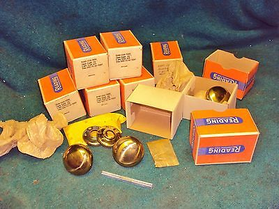 """8"" SETS Of  Vintage NOS Brass Matching Door Knobs"