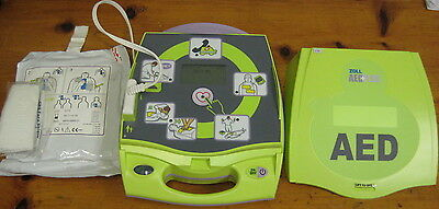 Zoll AED Plus automated external defibrillator with pads.  Great shape, guarante