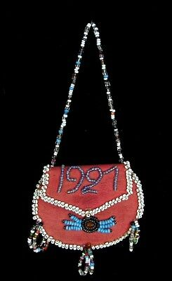 Native American Beaded Change Purse *cherokee* Dated 1927