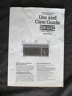 Microwave Hood Combination Use and Care Guide Roper