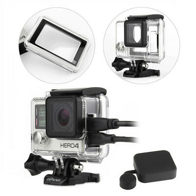 Skeleton Housing Side Open FPV Case with Touch Backdoor for GoPro Hero 4 Silver
