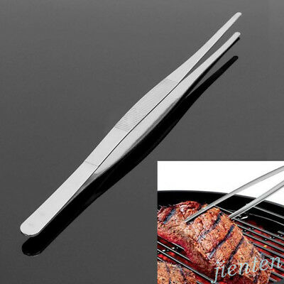 Multiusage BBQ Cooking Tweezer Remover Puller Steel Feeding Tong Pincer Chef Kit