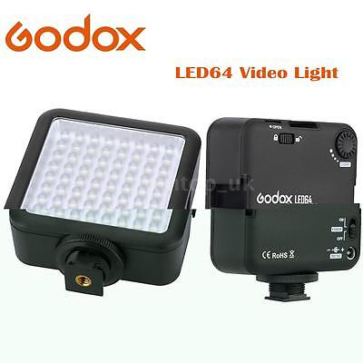 Godox LED 64 Continuous On Camera LED Panel light Portable Dimmable Cameras I8L5