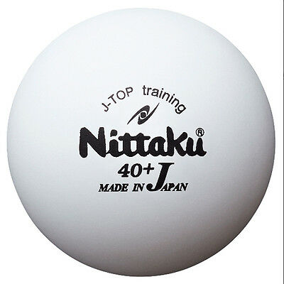 Nittaku J Top 40+ Plastic Table Tennis Training Ball ( Dozen ) - Made In Japan