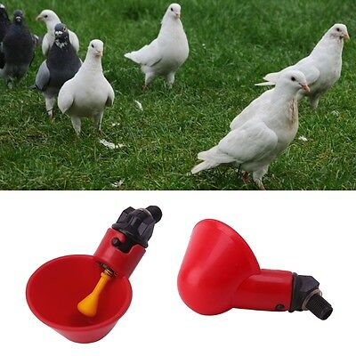 1/5/10PC Poultry Water Drinking Cups Plastic Chicken Hen Bird Automatic Drinker