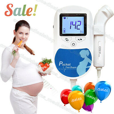 BABYSOUND LCD Display Prenatal Fetal Doppler Baby Heart Beat Monitor,FDA CE